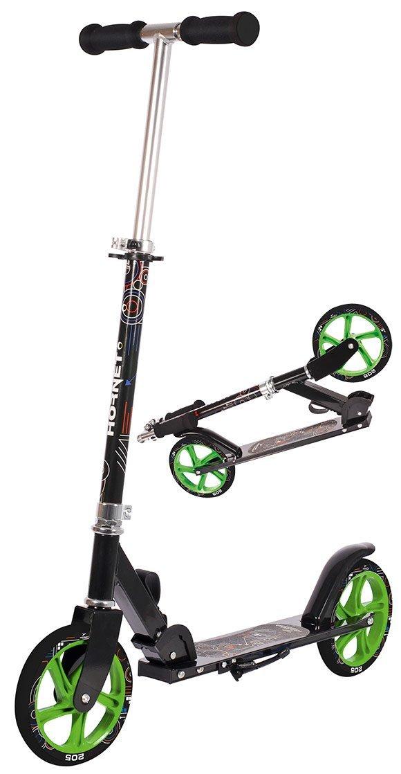 Hudora Hornet 205 Top Wheel Big Scooter Roller Cityroller Neon Grün